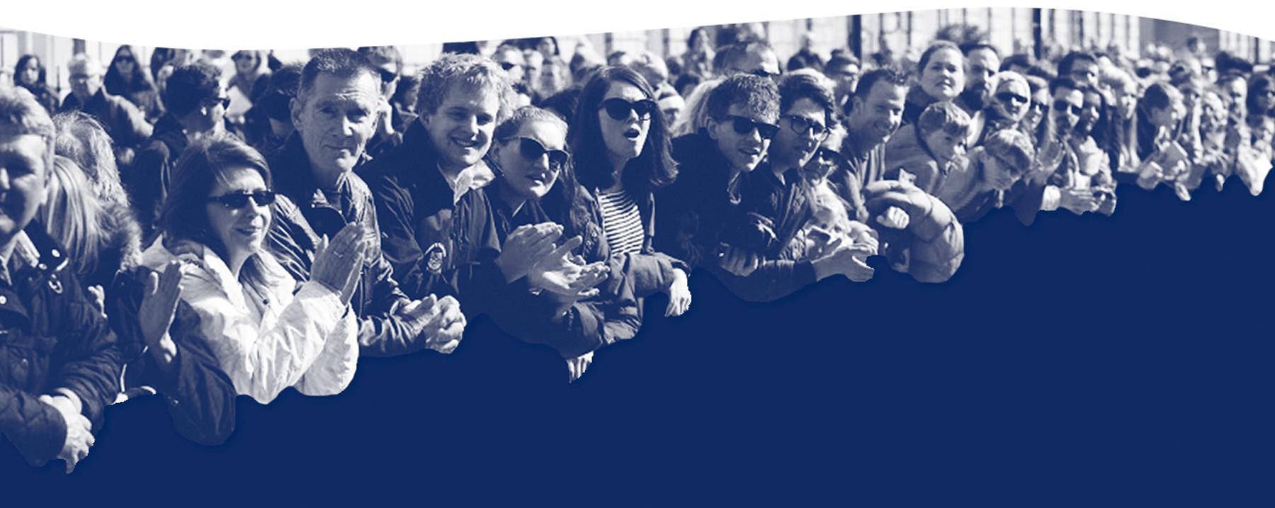 Horizontal image of crowd